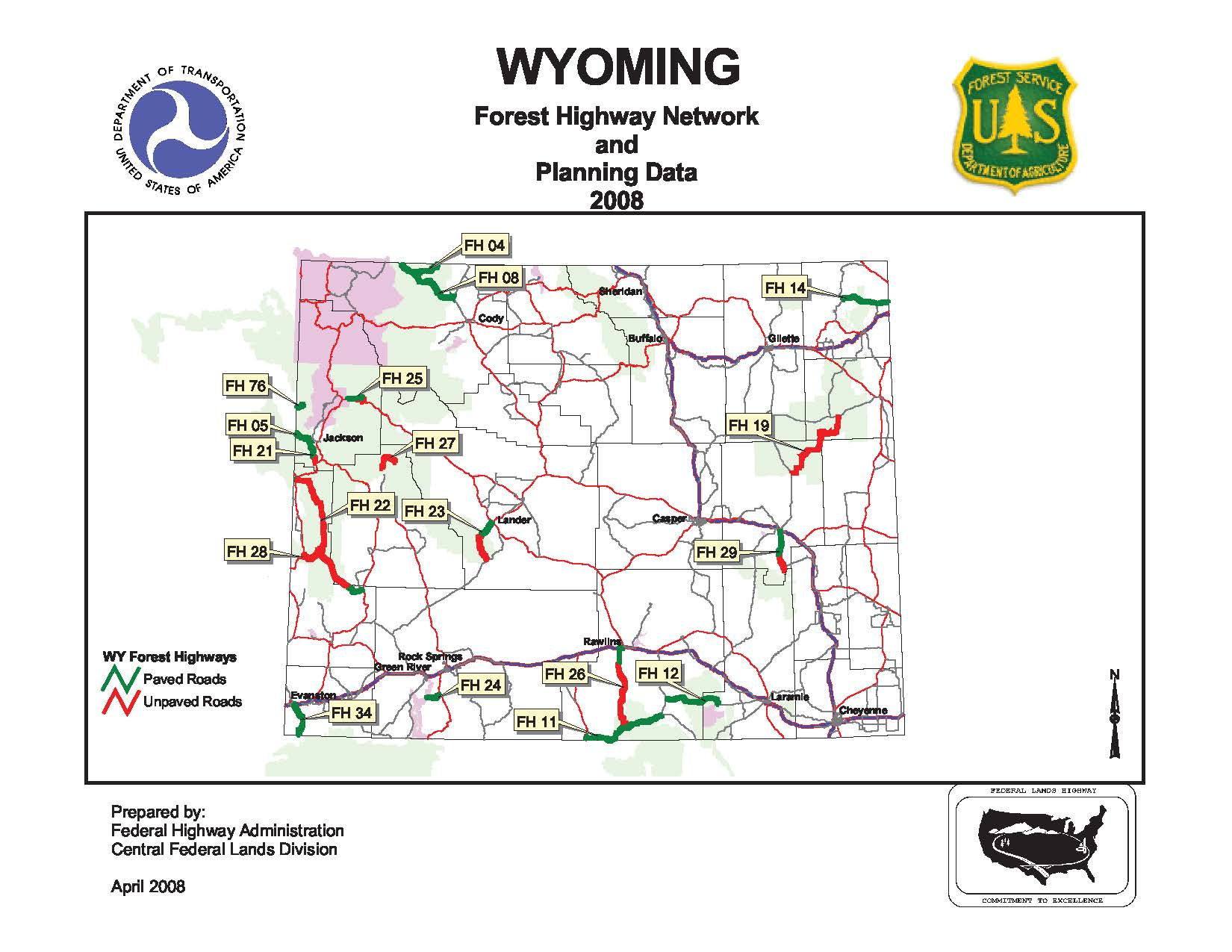 Wyoming Forest Highway Roads