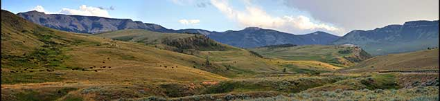 Photo of view from Chief Joseph Highway