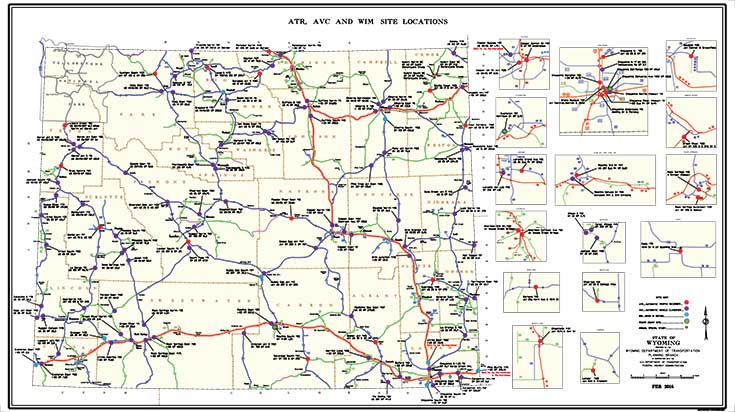 Traffic Data - Wyoming highway map
