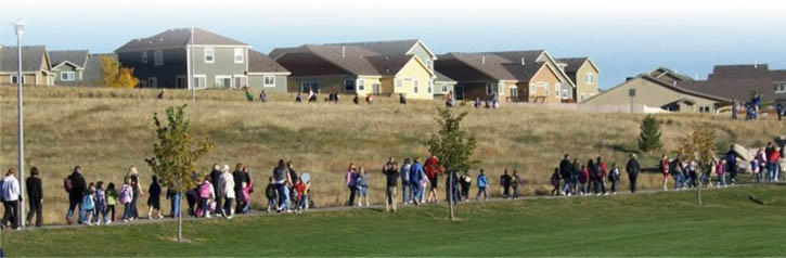 Photo of children walking to school