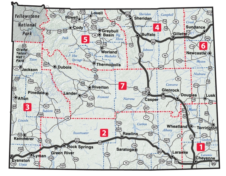 Maps - Maps wyoming