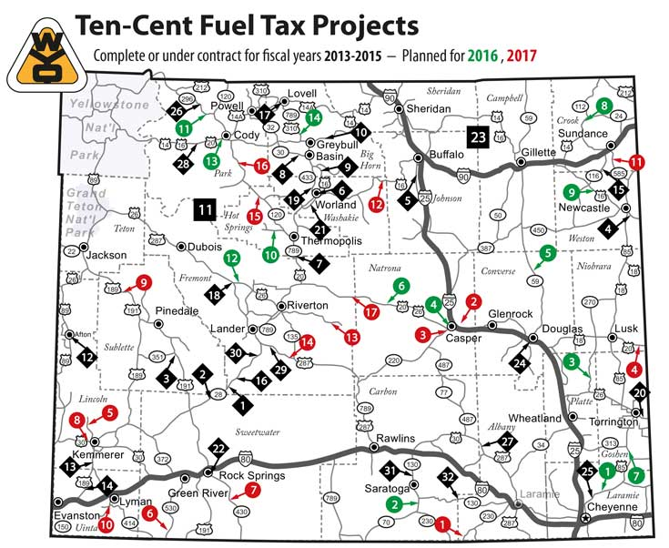 Web 10-cent fuel tax project map