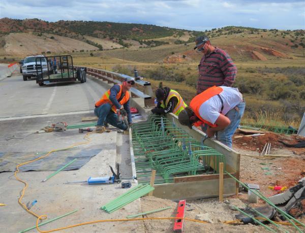 Bornhoft workers tying steel on Twin Creek bridge 10-11-2021.JPG