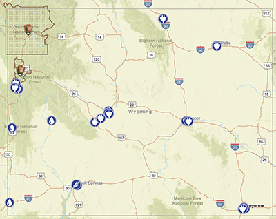 WYDOTs Map Now Features Alternative Fuel Locations - Wyoming on a us map